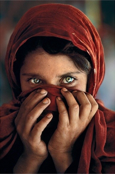 Steve McCurry, AFGHAN GIRL HIDING HER FACE, PESHAWAR, PAKISTAN, 1984