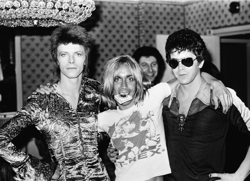 Mick Rock, DAVID BOWIE, IGGY POP AND LOU REED, LONDON, 1972