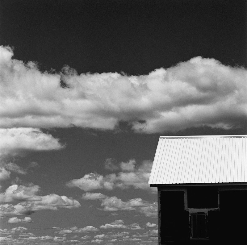 JERRY SCHATZBERG, WHITE SHED & CLOUDS, 1993