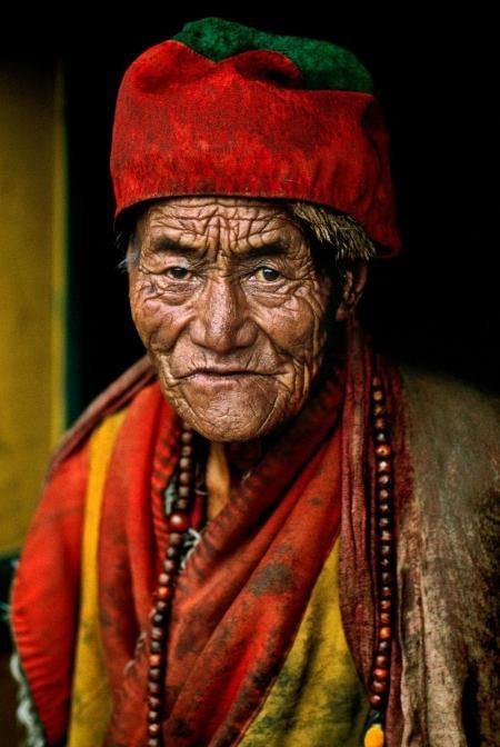 Steve McCurry, MONK AT JOKHANG TEMPLE, LHASA, TIBET, 2000