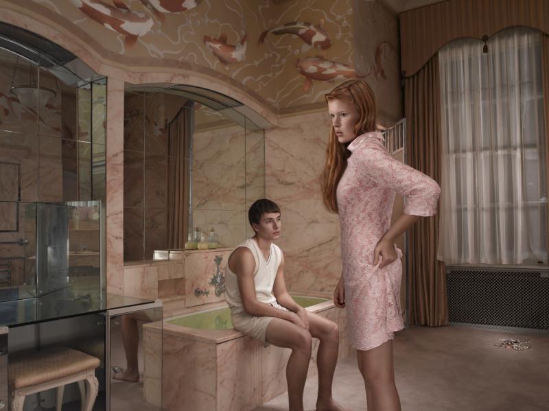 JULIA FULLERTON-BATTEN, BATHROOM, AWKWARD , 2011