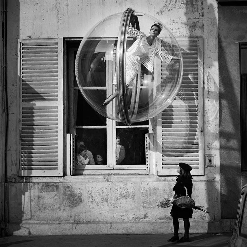 MELVIN SOKOLSKY, FLOWER GIRL, PARIS, 1963