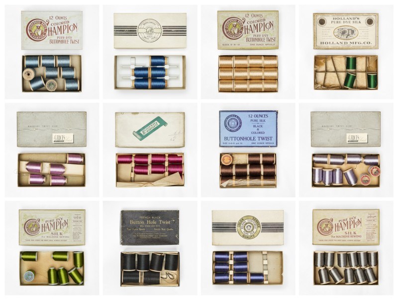 Christopher Payne, Vintage Sewing Threads, Martin Greenfield Clothiers, Brooklyn, NY, From The Textile Series, 2014