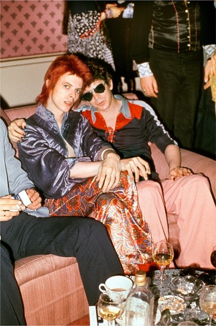 Mick Rock, BOWIE AND LOU REED, DORCHESTER HOTEL, LONDON, 1972