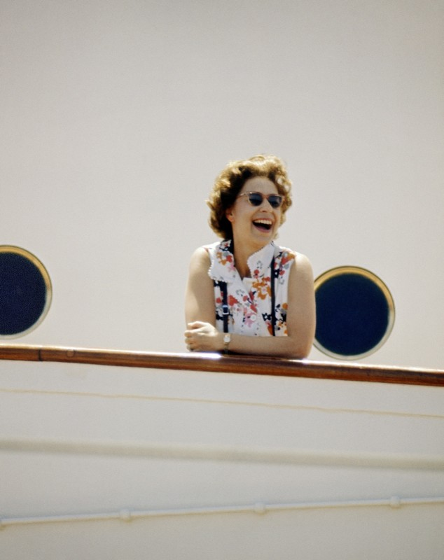 Patrick Lichfield, HM THE QUEEN ON BOARD HMS BRITANNIA, THE EQUATOR, INDIAN OCEAN, MARCH, 1972