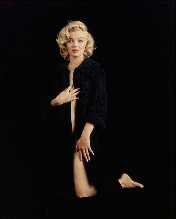 Milton Greene, MARILYN MONROE, THE NUDE SWEATER SITTING, 1955