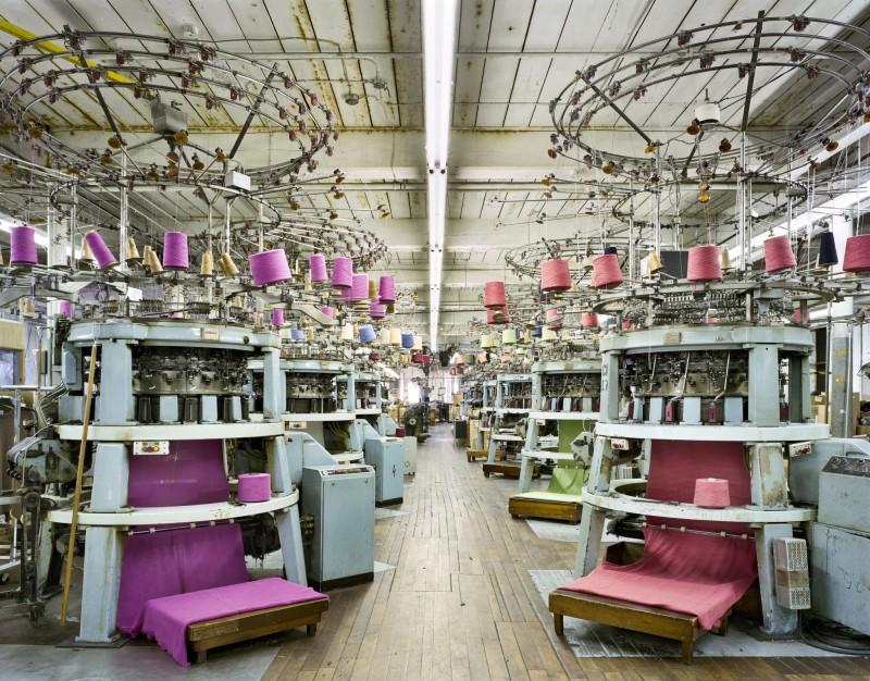 Christopher Payne, Circular Knitting Machines, Fall River Knitting Mills, Fall River, MA, From The Textile Series, 2011