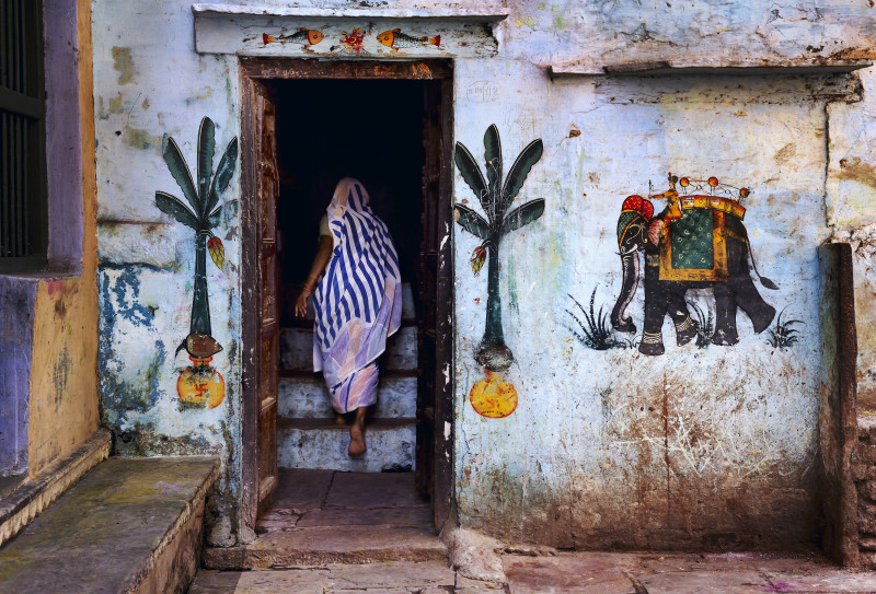 Steve McCurry, WOMAN IN VARANASI, INDIA, 2010