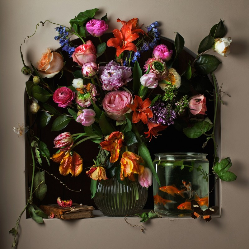 Paulette Tavormina, FLOWERS AND FISH I, AFTER G.V.S., 2012