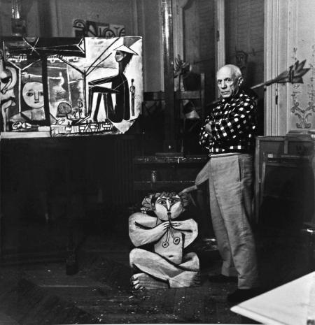 Lucien Clergue, PICASSO ET LE TABLEAU, 'MYSTÈRE PICASSO', LA CALIFORNIE, CANNES, 1955