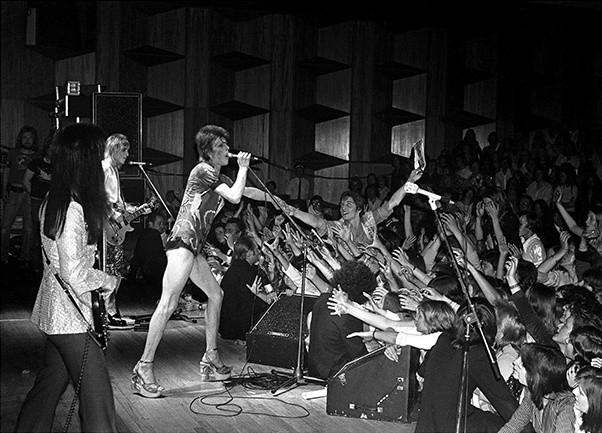 Mick Rock, DAVID BOWIE IN CONCERT, GUILDFORD, UK, 1973