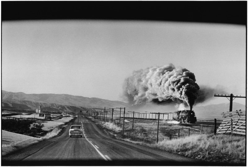 Elliott Erwitt, STEAM TRAIN PRESS, WYOMING, 1954