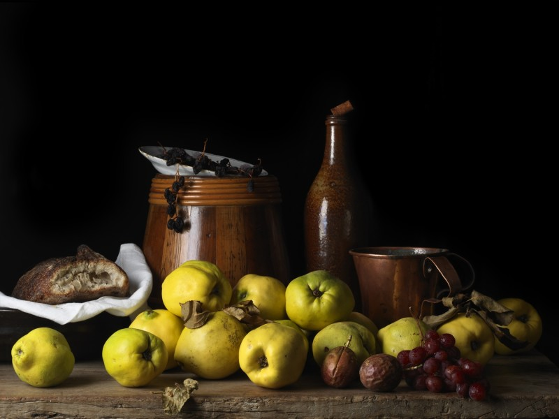 Paulette Tavormina, STILL LIFE WITH QUINCE AND JUG, AFTER LM, 2014
