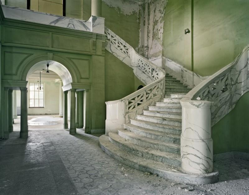 Christopher Payne, Mead Building Stair, Yankton State Hospital, Yankton SD, From The Asylum Series, 2008
