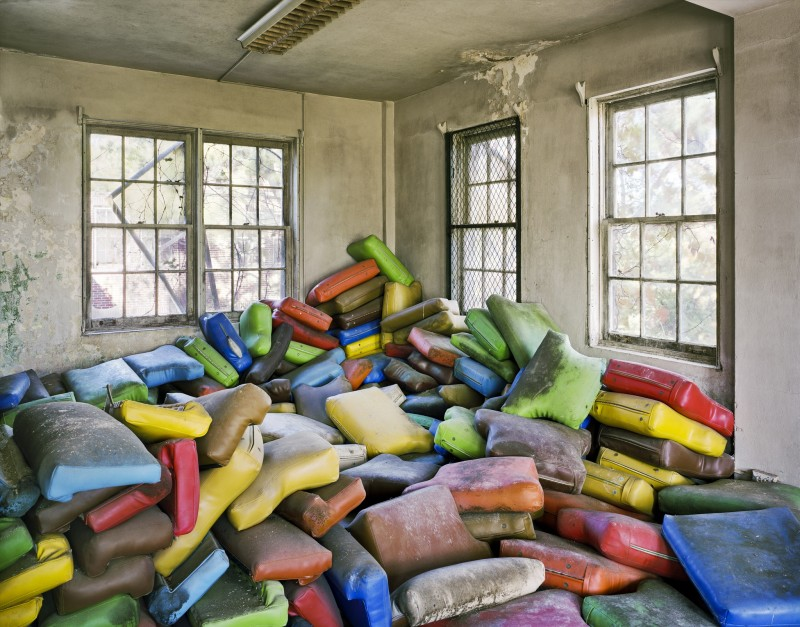 Christopher Payne, Seat Cushions, Terrell State Hospital, Terrell TX, From The Asylum Series, 2008