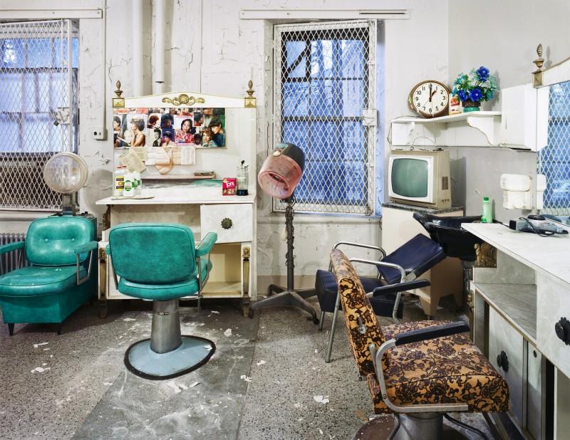Christopher Payne, Beauty Salon, Trenton State Hospital, Trenton, NJ, From The Asylum Series, 2003