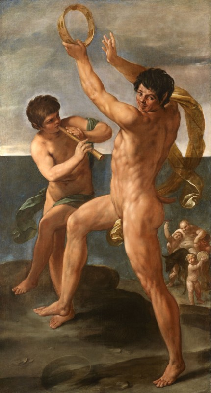 Guido Reni, Two figures in a Bacchic Dance