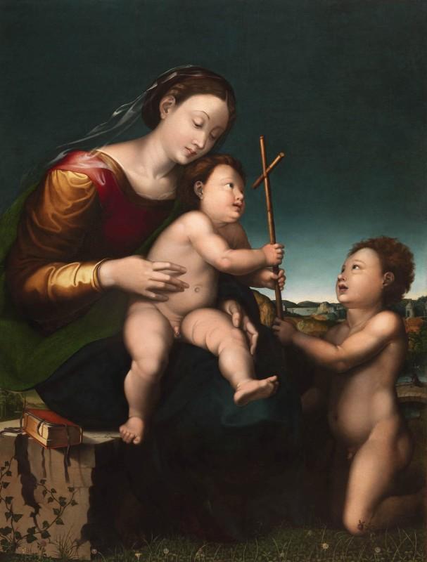 Leonardo Grazia, known as Leonardo da Pistoia, Madonna and Child with the Infant Saint John the Baptist