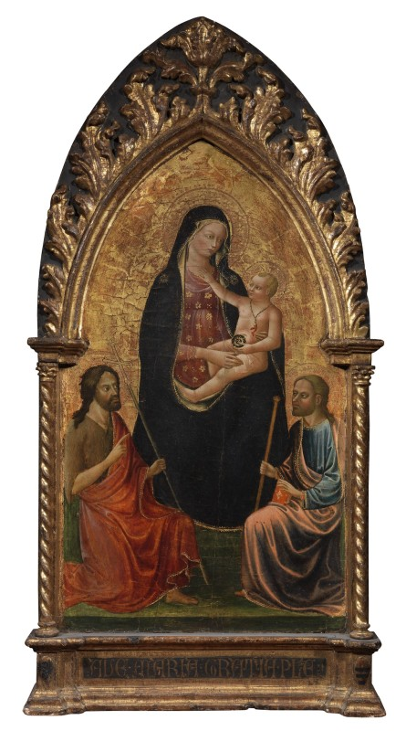 Francesco d'Antonio, Madonna and Child between Saints John the Baptist and James the Greater