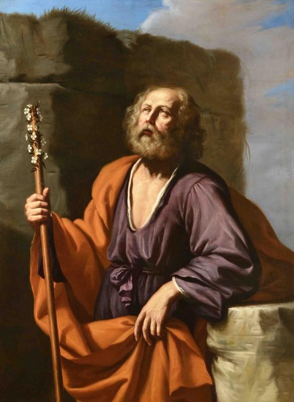 Giovanni Francesco Barbieri, called Il Guercino, Saint Joseph with the Flowering Rod