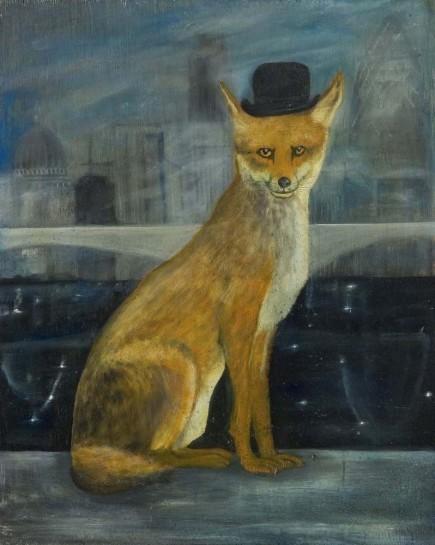 <div>City Gent, 2005</div><div><em>Oil on wood,57 x 45.5 cm</em></div>