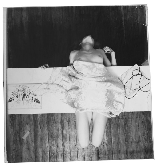 <p>Untitled (from Swan Song series), Providence, Rhode Island, 1978<br /> <em>Estate digital c-print, 111.8 x 116.2 cm 44 x 45 3/4 in<br /> © The Estate of Francesca Woodman Courtesy George and Betty Woodman</em></p>