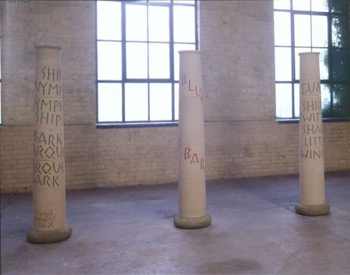 <p>Nymph/Ship, 1999 (Installation View)<br /> <em>Stone, with Peter Coates, 200 cm 78 3/4 in</em><br /><br /></p>