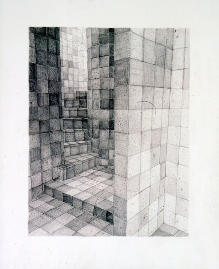 "<div id=""slideshowCaption""><span>The Mystic, 2004</span><br /> <em>pencil on paper, 51 x 37.5cm</em></div>"