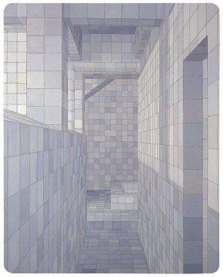 "<div id=""slideshowCaption""><span>O Obsessivo (The Obsessive), 2004</span><br /> <em>oil on canvas, 280 x 225cm</em></div>"