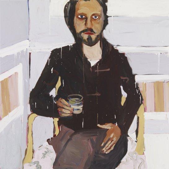 <p>Man with a Drink, 2008<br /><em>Oil on board, 186 x 186 cm 73.28 x 73.28 in</em></p>