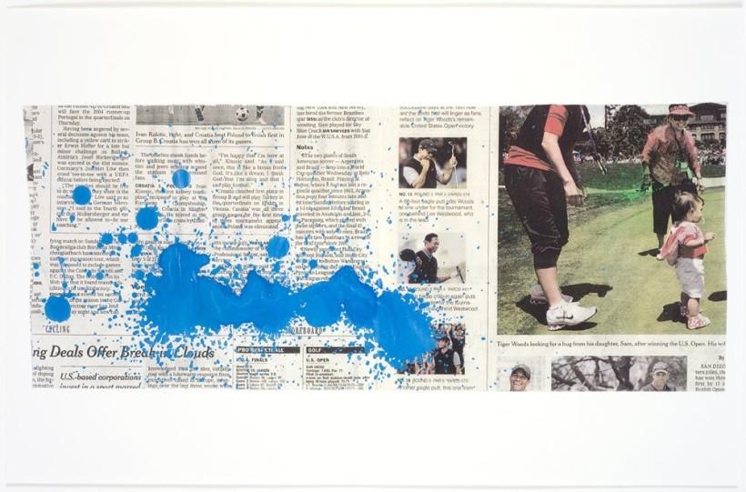 <p>Tiger, 2008 <br /><em>Mixed media on paper, 43.2 x 27.9 cm 17 x 11 in</em></p>