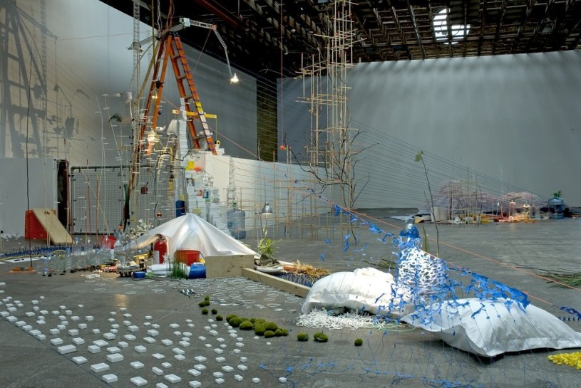 <p>Tilting Planet (centrepiece), 2006-7 (Installation View)<br /> <em>Mixed media, 1070 x 1250 x 530 cm 421.58 x 492.5 x 208.82 in<br /><br /></em></p>