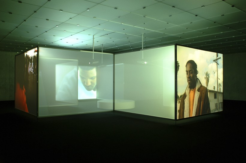 """<span class=""""artist""""><strong>Doug Aitken</strong></span>, <span class=""""title""""><em>interiors</em>, 2002</span>"""