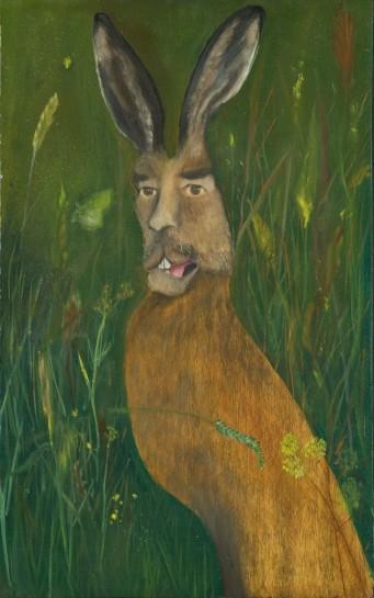 <div>Saddam Haresain, 2004</div><div><em>Oil and collage on wood,61 x 38 cm 24.03 x 14.97 in</em></div>