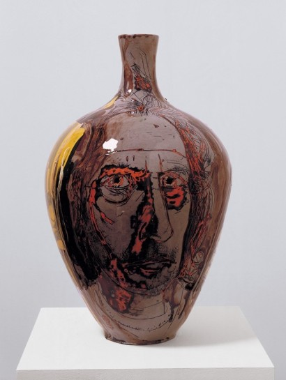 <p>Self Portrait with Eyes Poked Out, 2004<br /><em>Glazed ceramic, 55 x 34 cm 21 5/8 x 13 3/8 in</em></p>