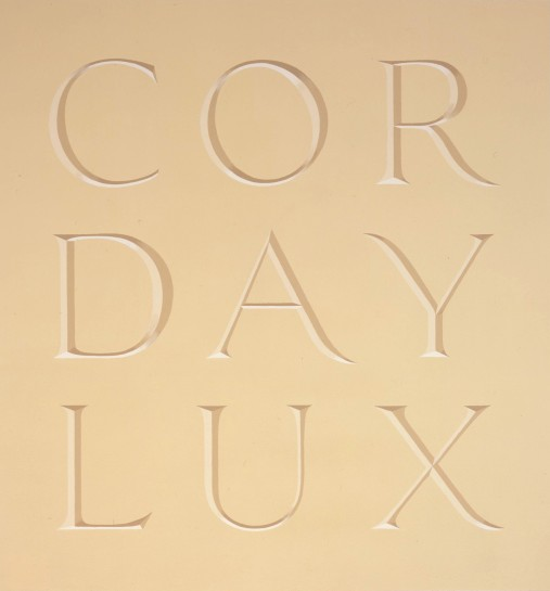 <p>Corday Lux, 2007<br /> <em>Wall Text</em></p>