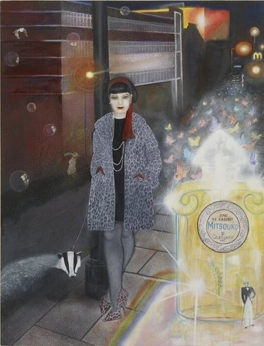 <p>She's Not a Girl Who Misses Much, 2008<br /><em>Oil on wood, 95.2 x 124 cms 37.51 x 48.86 inches</em></p>