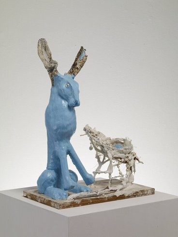 <p>Blue Hare Nest, 2009<br /><em>mixed media, 34 x 24 x 48 cms 13.4 x 9.46 x 18.91 inches</em></p>