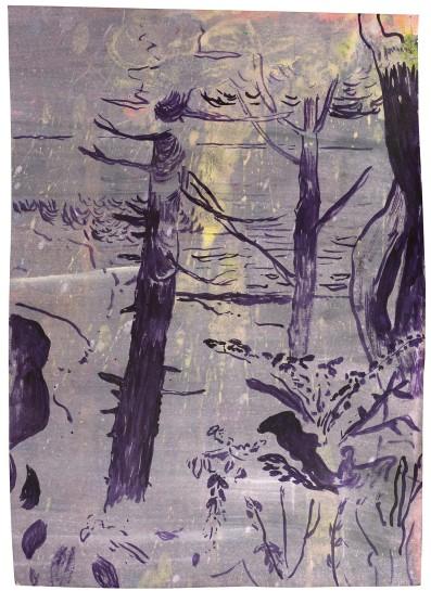 <p>Walk towards Hare Hill, 2013<br /><em>Ink on paper, 29 x 21 cm</em></p>