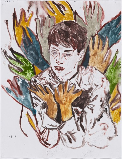 <p>Feeling the spirit, 2014<br /><em>watercolour monotype on paper, 30.5 x 22.9 cm 12 x 9 in</em></p>