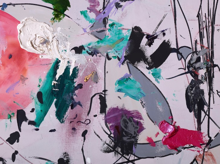 <p>Untitled, 2014 (detail)<br /><em>gouache, acrylic, oil and alkyd on canvas280 x 210 cm 110 1/4 x 82 5/8 in</em></p>