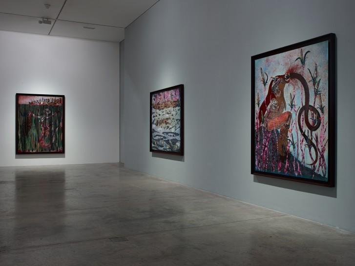<p>Installation View, Wangechi Mutu, <em>Nguva na Nyoka</em>, Gallery I, Victoria Miro, 16 Wharf Road London N1 7RW, 2014</p>