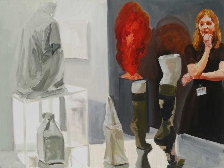 <p><em>Art Fair: Booth #40 Shopgirl</em> (study), 2014<br />Oil on linen<br />76.2 x 101.6 cm, 30 x 40 in</p>