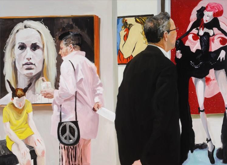 <p><em>Art Fair: Booth #10 Booty</em>, 2014<br />Oil on Linen<br />208.3 x 284.5 cm, 82 x 112 in</p>