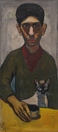 <p><em>Eddie Zuckermandel</em>, 1948<br />Oil on canvas<br />87 x 38.4 cm, 34 1/4 x 15 1/8 in</p>