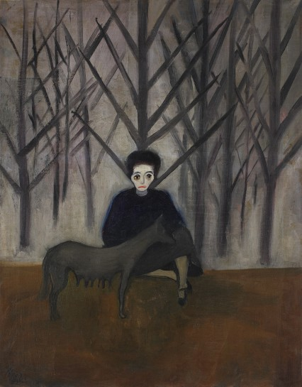<p><em>Nadya and the Wolf</em>, 1931<br />Oil on canvas<br />76.5 x 60.3 cm, 30 1/8 x 23 3/4 in</p>