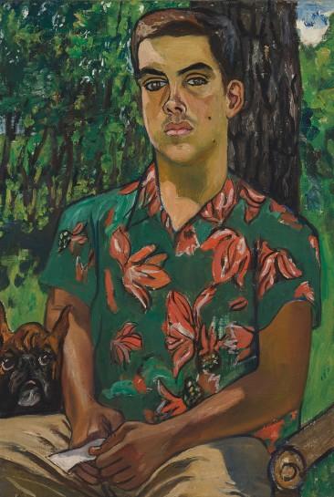 <p><em>Richard with Dog</em>, 1954<br />Oil on canvas<br />81.9 x 56.5 cm, 32 1/4 x 22 1/4 in</p>