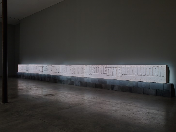 "<div id=""ig_slideshow_caption"" class=""span4""><p>Installation View, Ian Hamilton Finlay, <i>1789 - 1794<br /></i></p><p>10 June - 31 July 2015.<em> <br /></em></p><p>Gallery I, Victoria Miro, 16 Wharf Road London N1 7RW</p></div><p><span><span><span><span><span class=""caption""><br /><br /></span></span></span></span></span></p>"