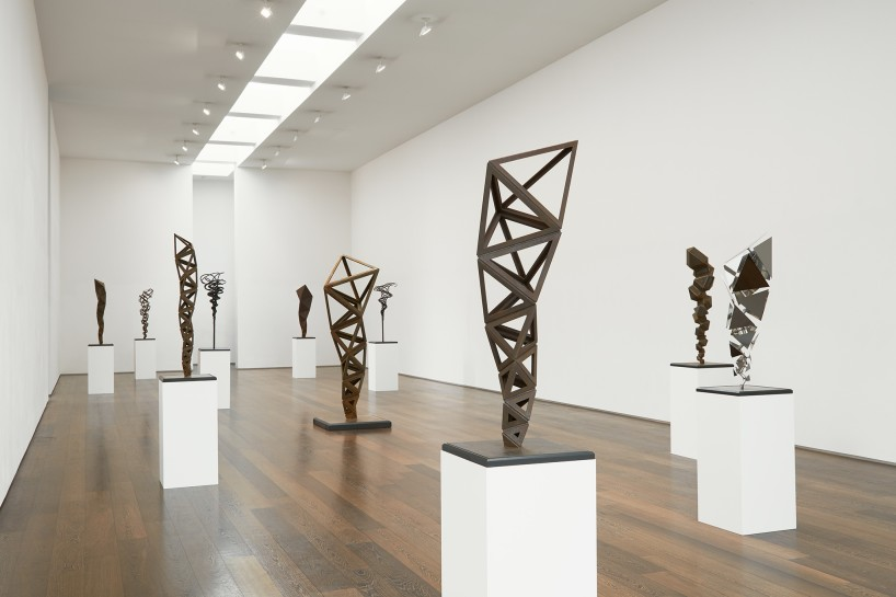 <p>Installation View, Conrad Shawcross, <i>Inverted Spires and Descendent Folds</i></p><p>10 June - 31 July 2015.<em> <br /></em></p><p>Gallery II, Victoria Miro, 16 Wharf Road London N1 7RW</p>
