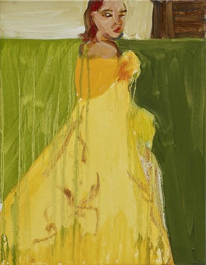 <p><i>Yellow Ballgown</i><span>, 2015</span><br /><span>Oil on canvas</span><br /><span>45.8 x 35.5 cm</span><br /><span>18 1/8 x 14 in</span></p>